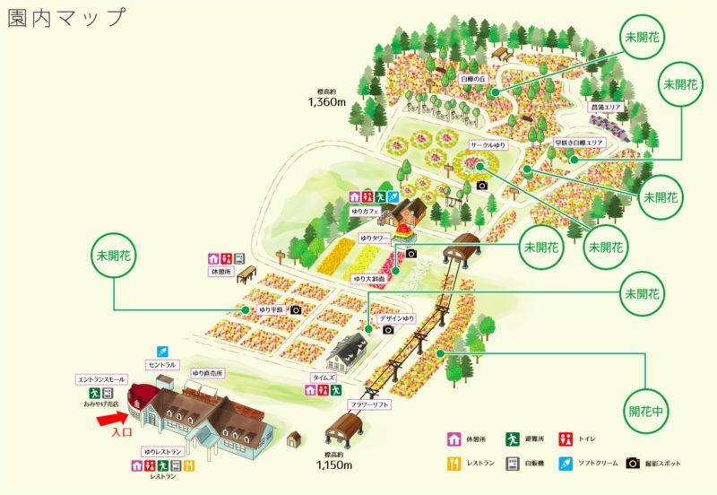 ゆり博 園内マップ