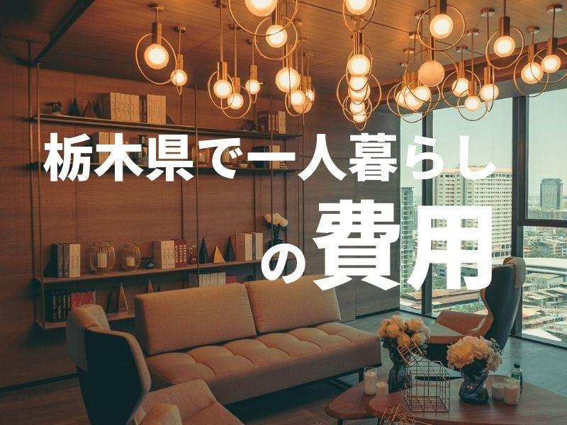 栃木県で一人暮らしの費用